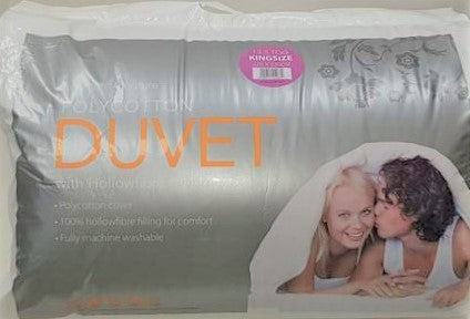 King Bed Duvet 13.5 tog Poly Cotton Hollow Fibre filled
