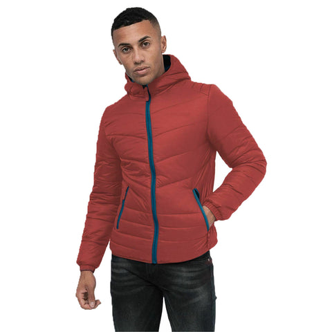 Cross Hatch Mens Jacket Burgundy