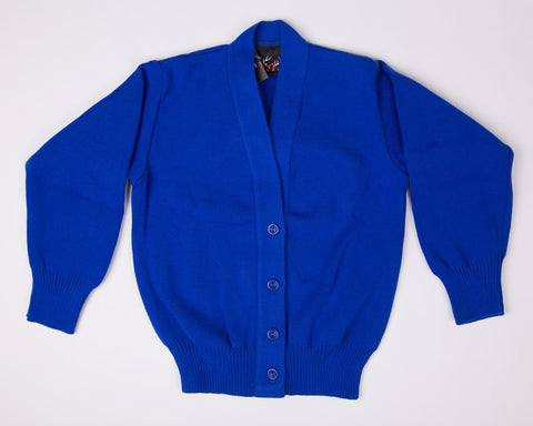 Girls School Cardigan - Royal Blue