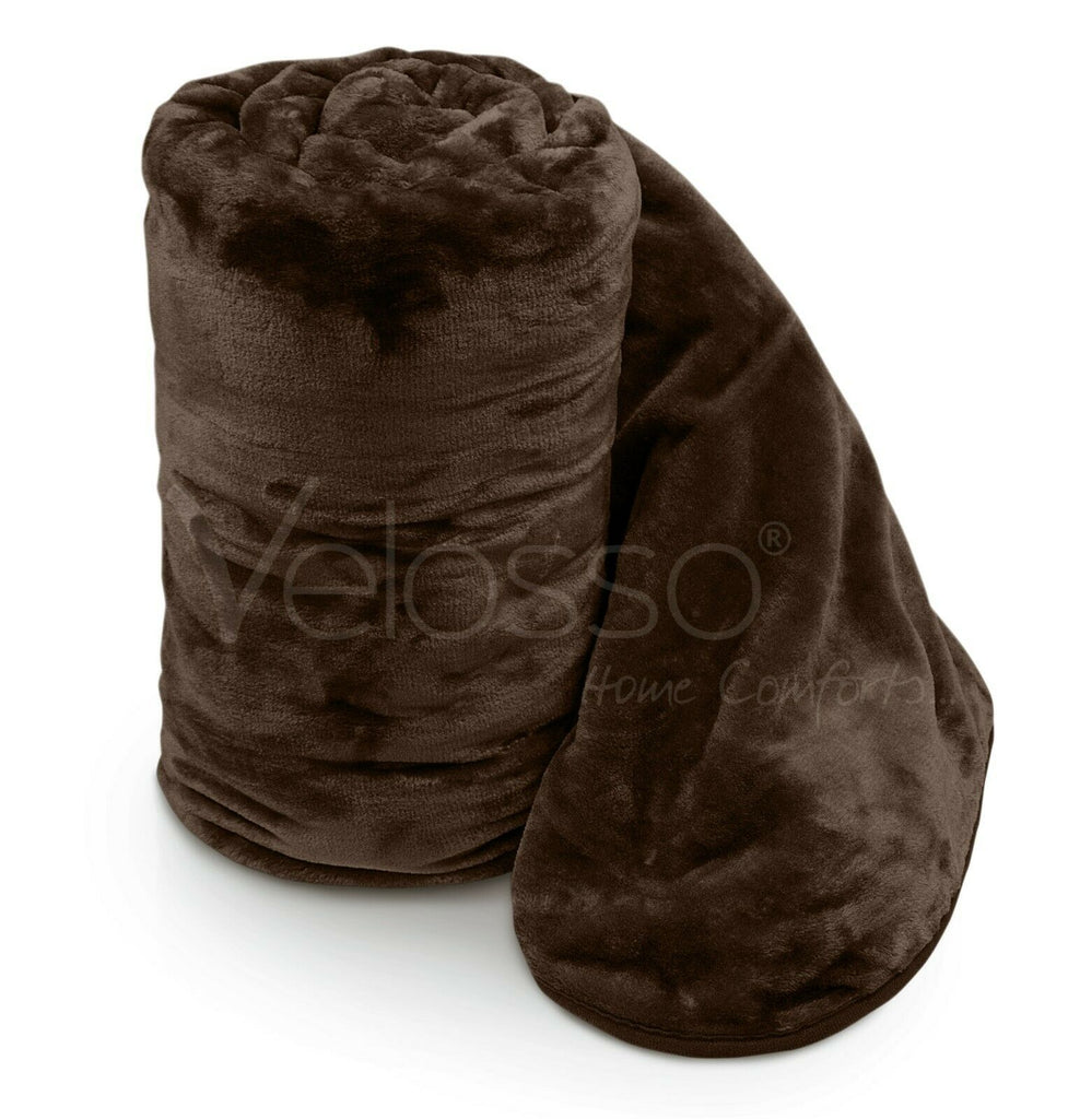 Velosso faux fur mink throw