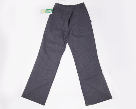 Girls school trouser  - half elastic waist