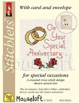 Cross stitch complete card kits with envelope - 18 different designs for all occasions
