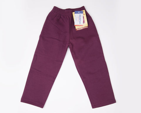 Fleece Jog Bottom | Wine colour