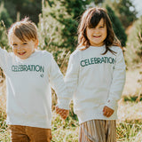 White snow Celebration Sweat |Kidz|