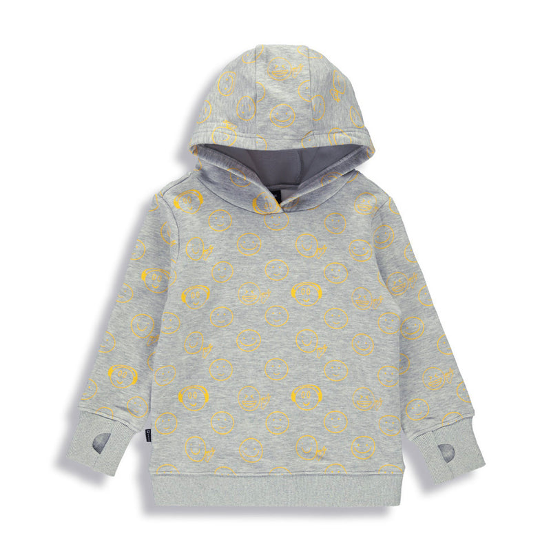 Shop online for this beautiful grey Happy Hoodie fro boys from BIRDZ. Free shipping on orders over 75$ CA & over $100 US. Get 10% off your first order. Order online !