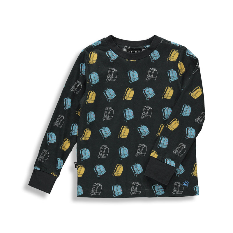 Shop online for this Backpack long sleeve tee for boys. Made by BIRDZ, in black. Free shipping on orders over 75$ CA/US. Get 10% off your first order. Order online !