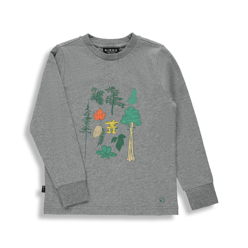Shop online for this beautiful Dark Grey Canadian forest long sleeve tee, a top made for boys, from BIRDZ. Free shipping on orders over 75$ CA& over $100 US. Get 10% off your first order. Order online !