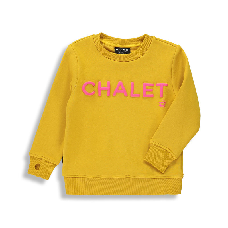 Shop online for this beautiful mustard Chalet sweat, a unisex top, made by BIRDZ. Free shipping on orders over 75$ CA & over $100 US. Get 10% off your first order. Order online !