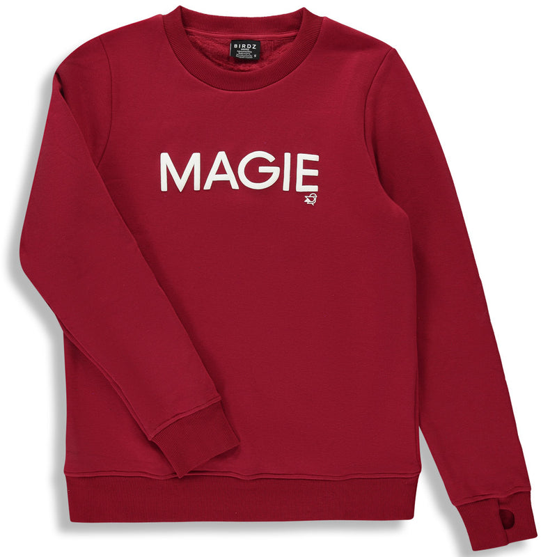 Shop online for this beautiful red Holiday Magie Sweat, a top for woman made by BIRDZ. Free shipping on orders over 75$ CA/US. Get 10% off your first order. Order online !