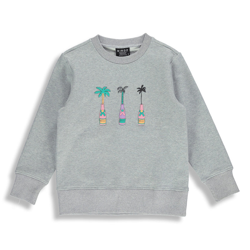 Shop online for this beautiful grey Champagne Sweat, a top for kidz, made by BIRDZ. Free shipping on orders over 75$ CA & over $100 US. Get 10% off your first order. Order online !