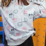 Shop online for this beautiful grey Happy hoodie, made for girlz, from BIRDZ. Free shipping on orders over 75$ CA & over $100 US. Get 10% off your first order. Order online !