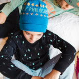 Shop online for this beautiful black Pine long sleeve tee, a top made for boys, by BIRDZ. Free shipping on orders over 75$ CA & over $100 US. Get 10% off your first order. Order online !