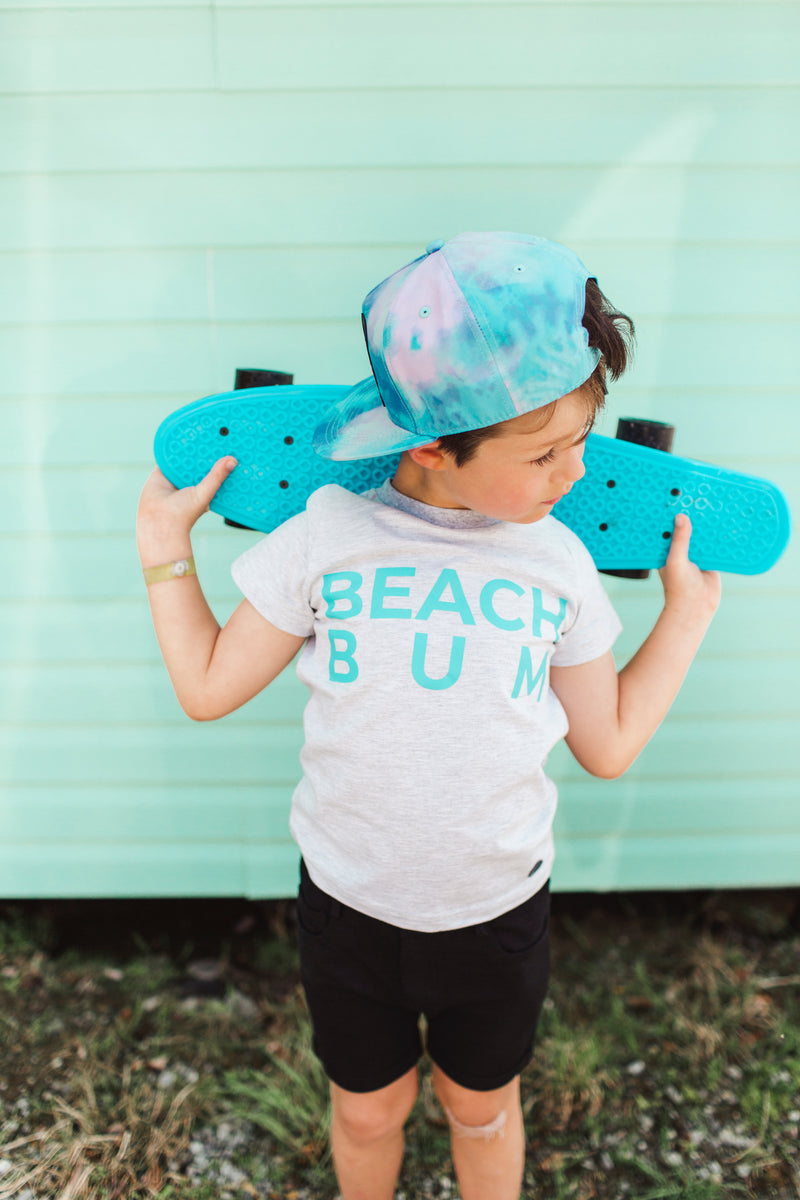 BEACH BUM TEE | LIGHT GREY |