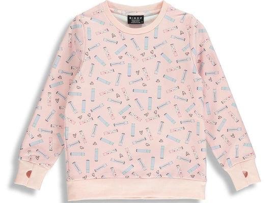 Shop online for this beautiful pink Lipsticks crewneck from Birdz. Designed for Girls. Free shipping on orders over 75$ CA/US. Get 10% off your first order. Order online !