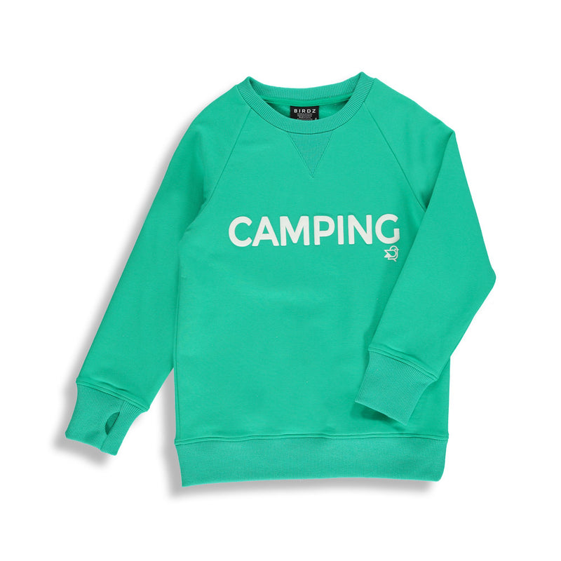 Camping Sweat |Aqua Green| Kidz