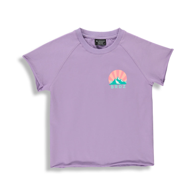 Raw Cut Basic Tee |Lilac| Kidz