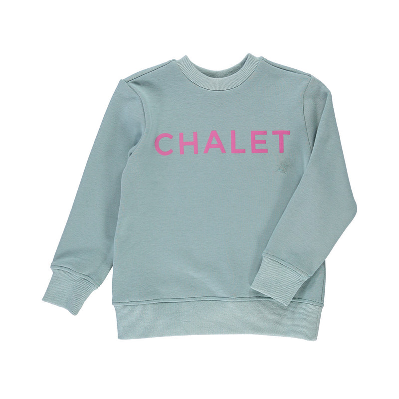 Sweat Chalet blue sweat with pink chalet print baby sweat girl sweat baby girl sweat kids sweat kid sweat girls sweat cotton sweat online clothing store online store online fashion store online sweat online kids fashion online canadian store online clothing store kids store
