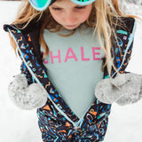 blue pink fleece girls sweat fashion top toddler clothes