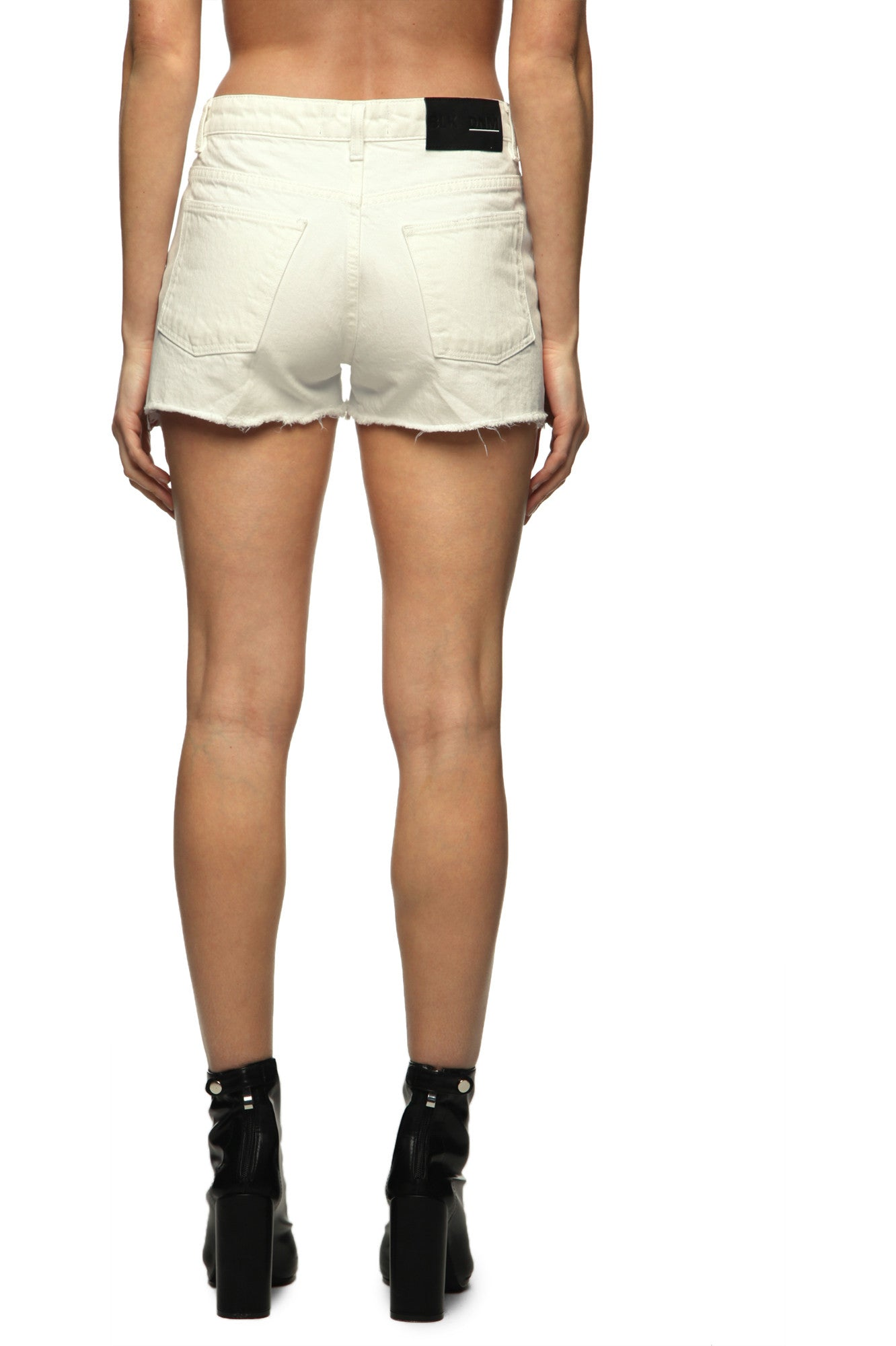 Womens Jean Shorts 16 Montague White