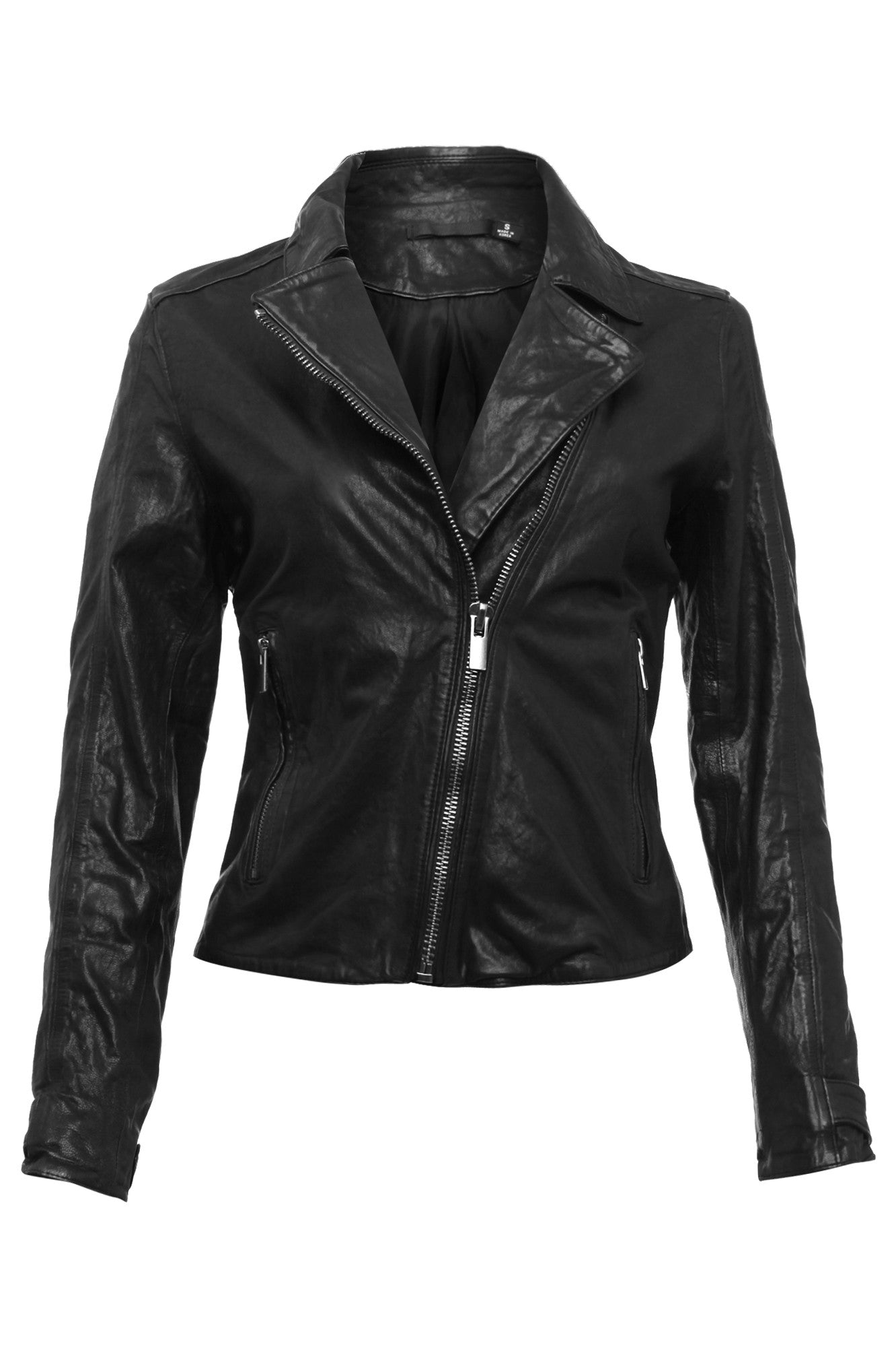 Womens Leather Jacket 24 Black