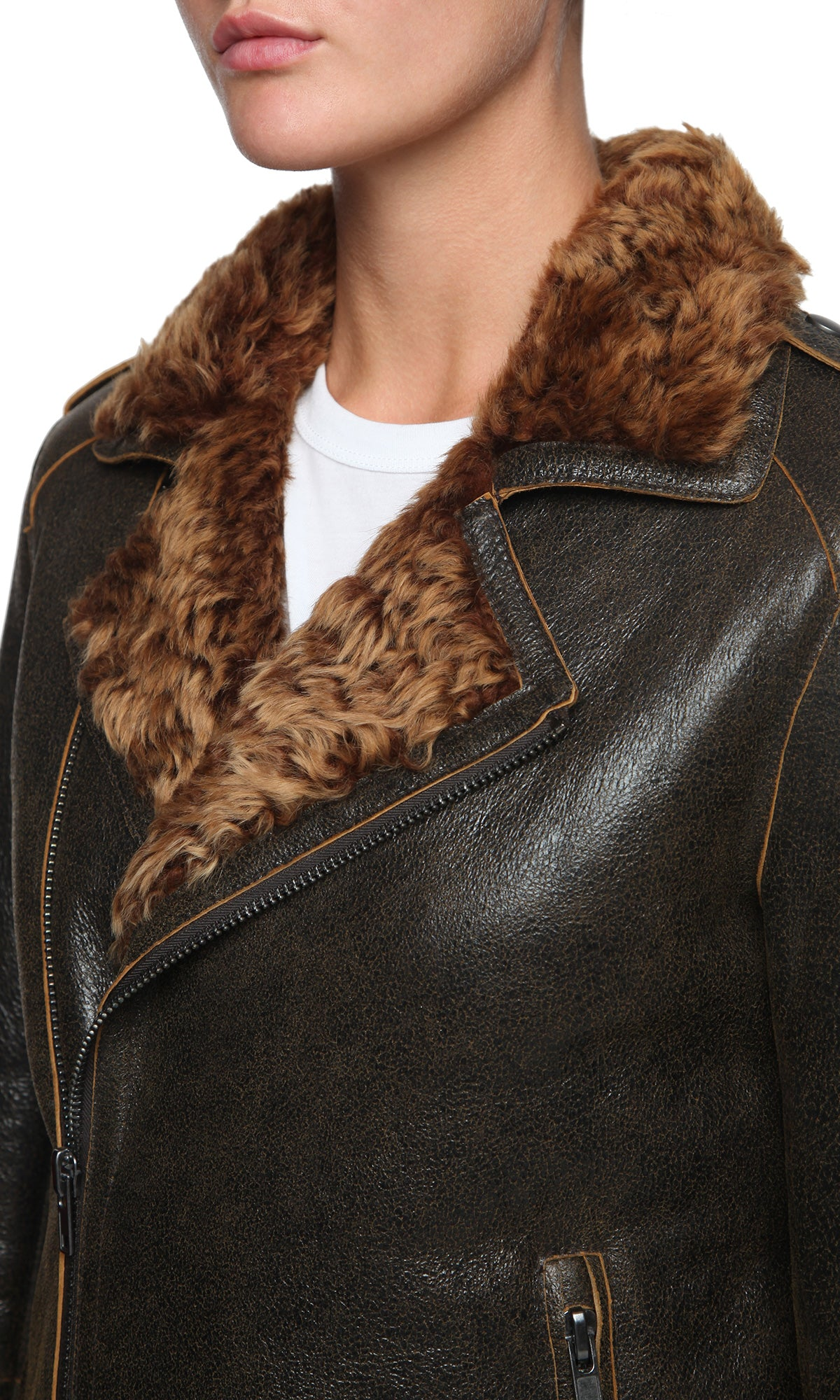 Womens Leather Jacket 109 Cocoa