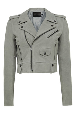 Womens Leather Jacket 145 Grey