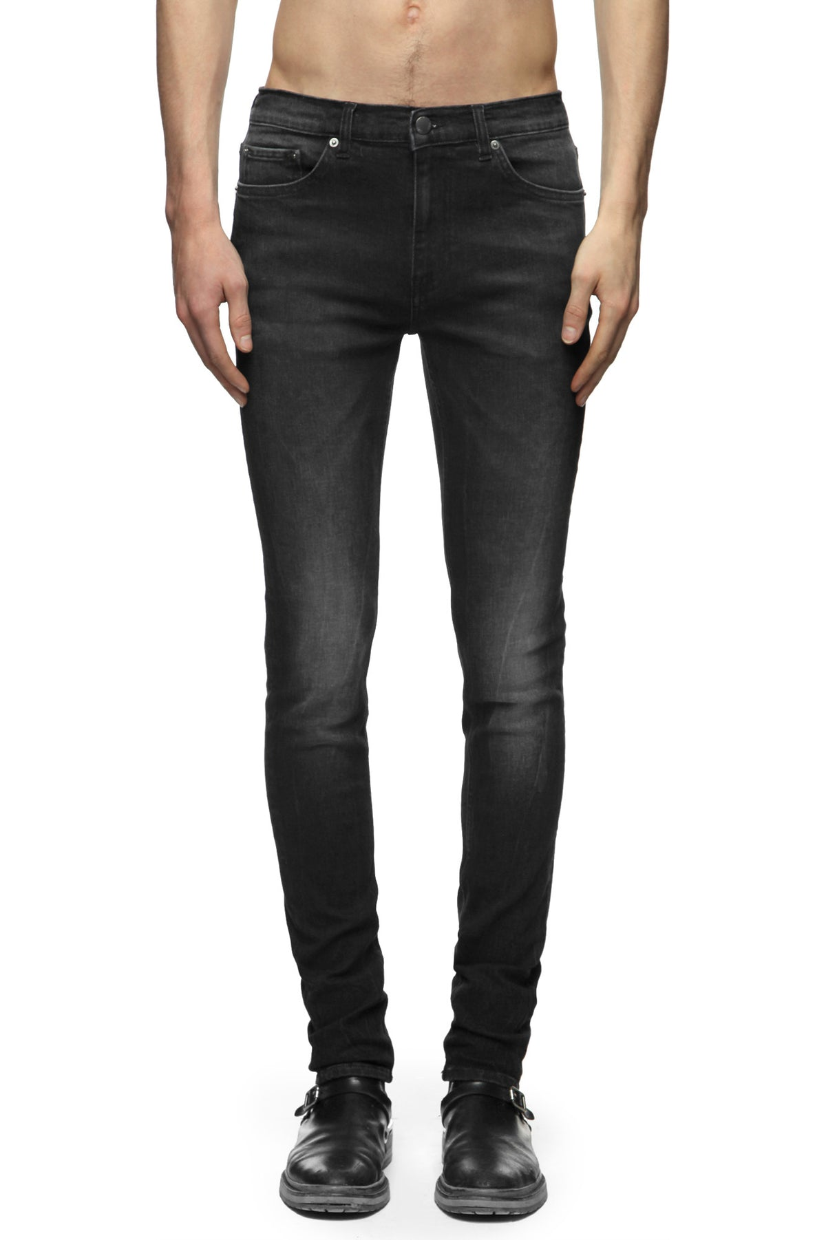 Mens Jeans 25 Fleet Black