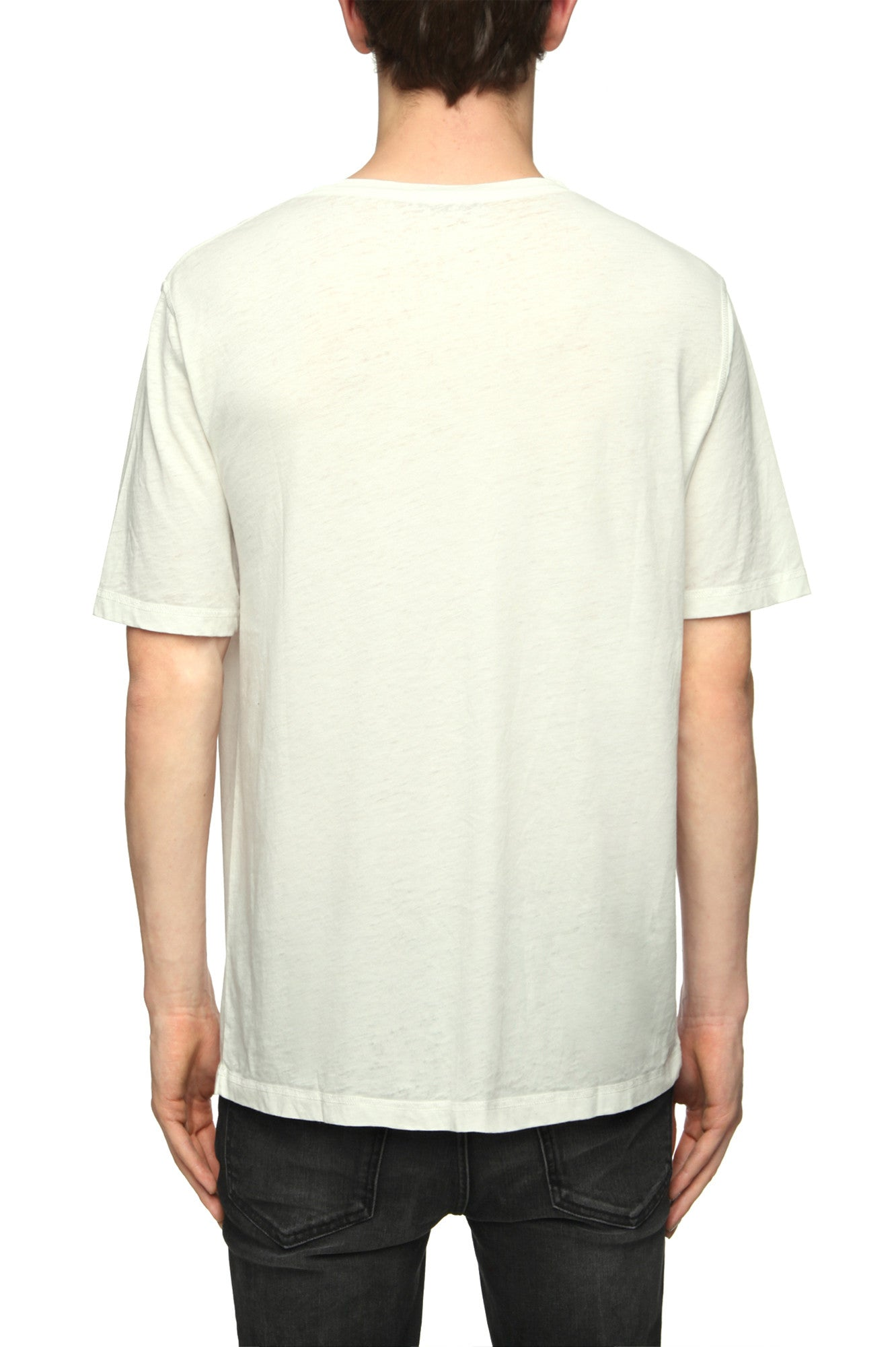 Mens T-Shirt 99 Ash White