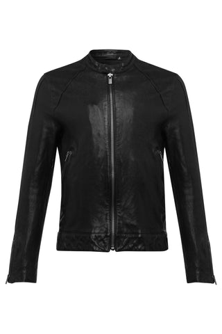 Mens Leather Jacket 60 Black