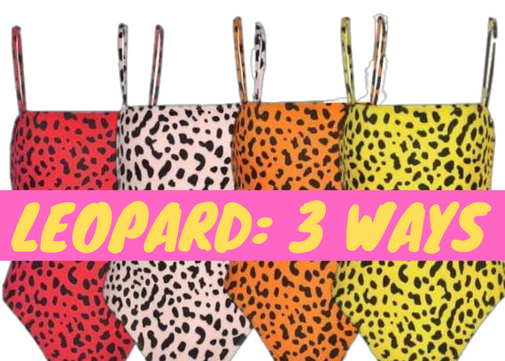 WILD THING: Leopard Bodysuit 3 Ways