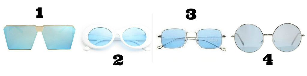 Blue lens sunglasses - Own Saviour - free delivery