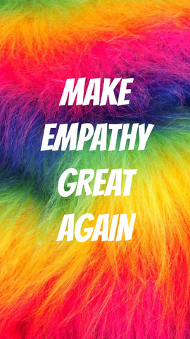 rainbow fur make empathy great again free iPhone wallpaper