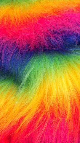 rainbow fur free iphone wallpaper