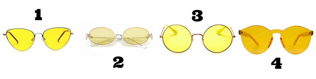 Yellow lens sunglasses - Own Saviour - free delivery
