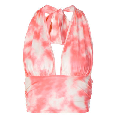Peach Tie Dye Halter - Own Saviour