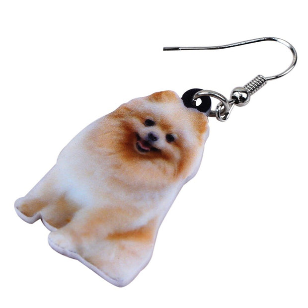 Pomeranian Drop Earrings - Own Saviour - Free worldwide shipping