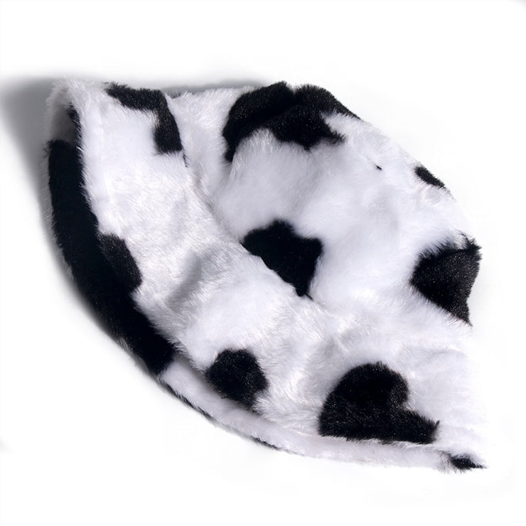 Faux Fur Cow Bucket Hat - Own Saviour - Free worldwide shipping