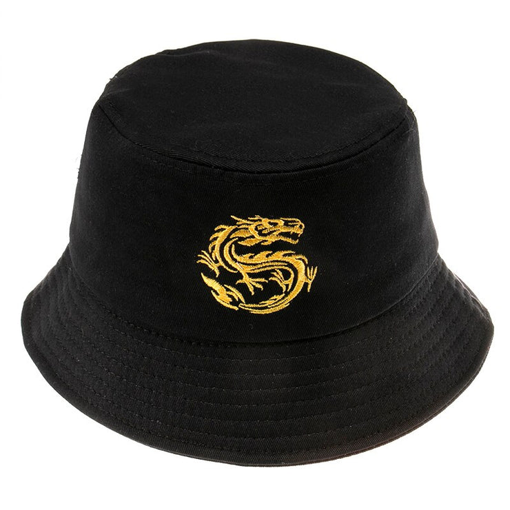 Dragon Embroidered Bucket Hat - Own Saviour - Free worldwide shipping
