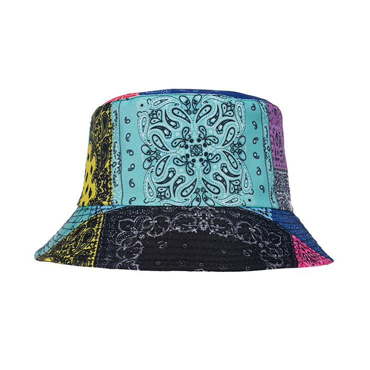 Multicoloured Paisley Bandana Bucket Hat - Own Saviour