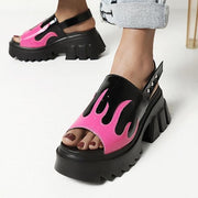 Flame Platform Sandals - Own Saviour