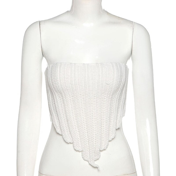 Knitted Point Tube Top - Own Saviour