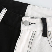 Black/White Splice Jeans - Own Saviour - Free worldwide shipping