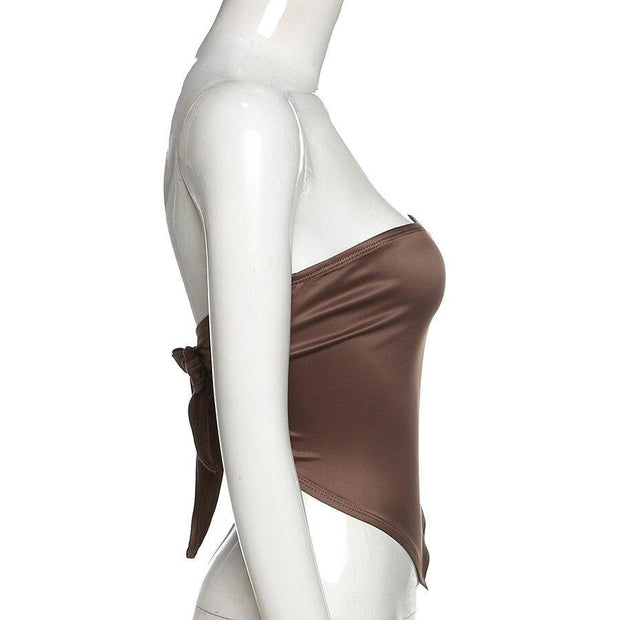 Brown Point Backless Top - Own Saviour - Free worldwide shipping