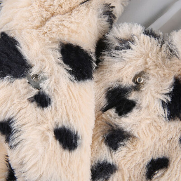 Thick Leopard Faux Fur Jacket - Own Saviour