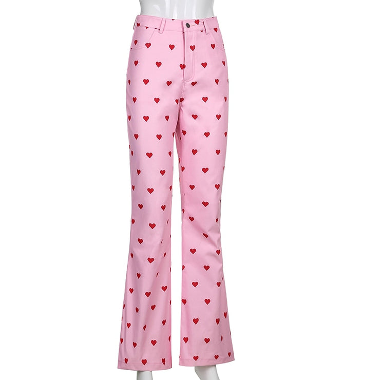 Heart Flare Pants - Own Saviour - Free worldwide shipping