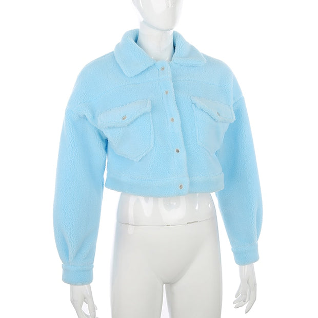 Light Blue Wool Jacket - Own Saviour
