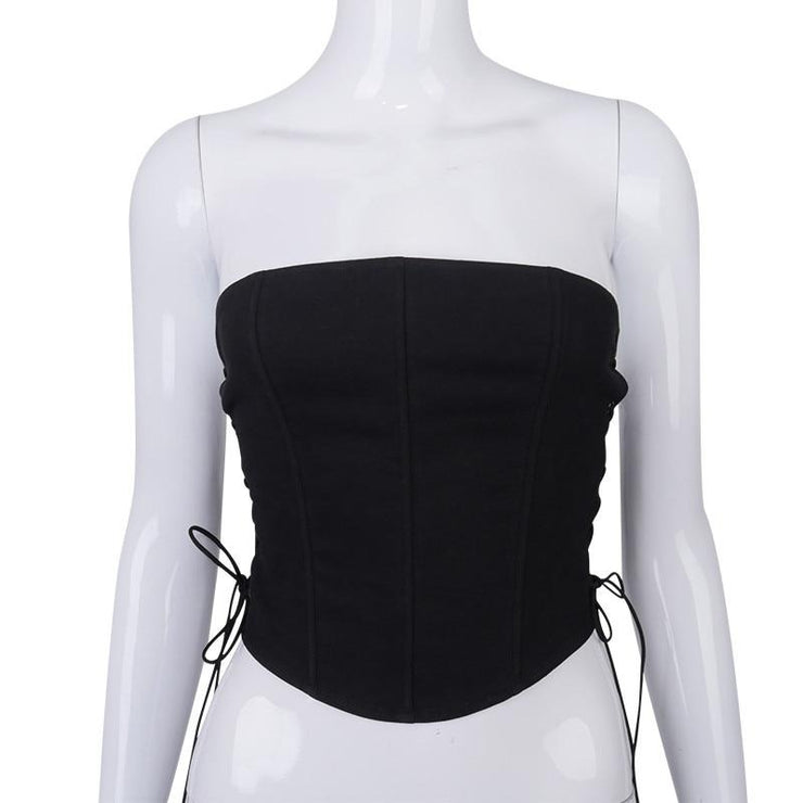 Side Tie Corset Crop - Own Saviour