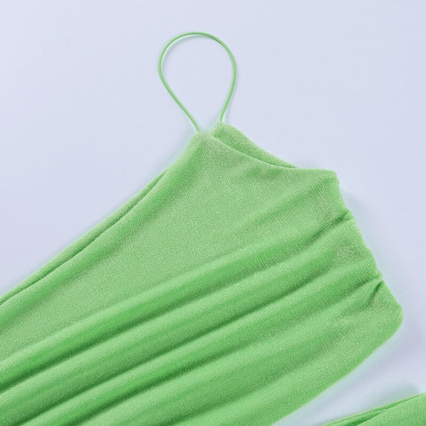 Neon One Shoulder Cut Out Crop - Own Saviour - Free worldwide shipping
