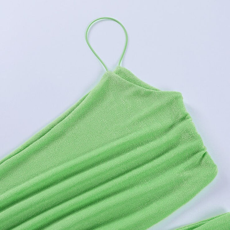 Neon One Shoulder Cut Out Crop - Own Saviour