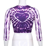 Purple Heart Tie Dye Crop - Own Saviour - Free worldwide shipping